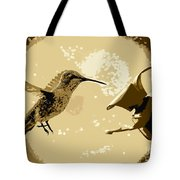 Midnight Hummingbird Tote Bag