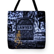 Midnight In The Graveyard With A Lawyer Tote Bag
