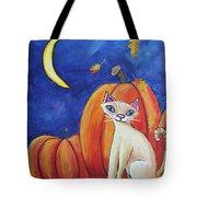 Midnight In The Pumpkin Patch Tote Bag