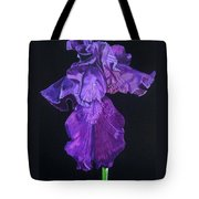 Midnight Iris Tote Bag