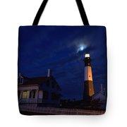Midnight Moon Over Tybee Island Tote Bag