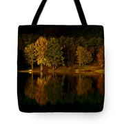 Midnight On The Lake Tote Bag by Linda Unger