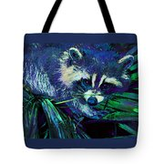 Midnight Racoon Tote Bag