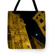 Midnight Roman Facades In Yellow  Tote Bag