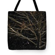 Midnight Snow Tote Bag