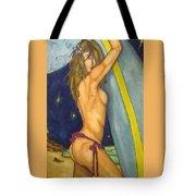 Midnight Surfer Tote Bag