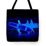 Midnight Surfers Tote Bag