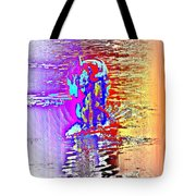 Come Out And Swim The Midnight Swim With Us  Tote Bag by Hilde Widerberg