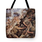 Midst Shot And Shell We Made The Narrow Tote Bag