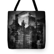 Midtown Black And White Tote Bag