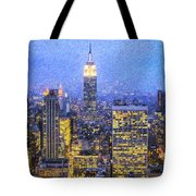Midtown Manhattan And Empire State Building Tote Bag