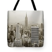 Midtown Manhattan With Empire State Building Tote Bag