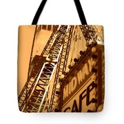 Midway Cafe Sepia Tote Bag