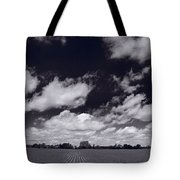 Midwest Corn Field Bw Tote Bag