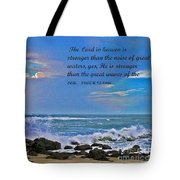 Mighty God Tote Bag