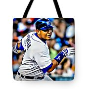 Miguel Cabrera Painting Tote Bag