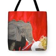 Mika And Elephant Tote Bag