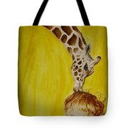 Mika And Giraffe Tote Bag