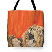 Mika And Lion Tote Bag