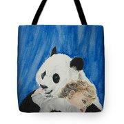 Mika And Panda Tote Bag