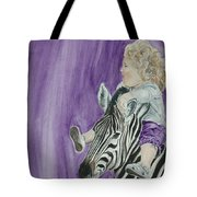 Mika And Zebra Tote Bag