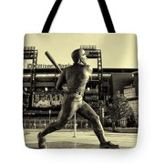 Mike Schmidt At Bat Tote Bag by Bill Cannon