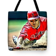 Mike Trout Painting Tote Bag