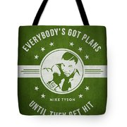 Mike Tyson - Green Tote Bag