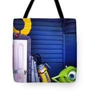 Mike With Boo's Door - Monsters Inc. In Disneyland Paris Tote Bag