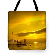 Mike's Beach Resort In The Morning  Tote Bag