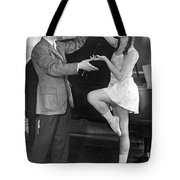 Mikhail Mordkin And Student Tote Bag by Underwood Archives
