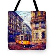 Milan Tram Tote Bag