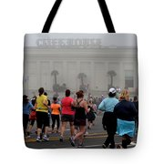 Mile 10 At Cliffhouse Tote Bag by Dean Ferreira