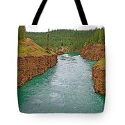 Miles Canyon In Whitehorse-yt Tote Bag