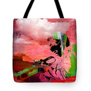 Miles Davis In The Clouds Tote Bag