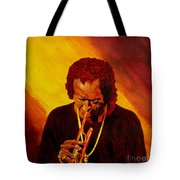 Miles Davis Jazz Man Tote Bag