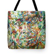Miles Davis Watercolor Portrait.1 Tote Bag