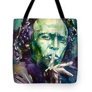 Miles Davis Watercolor Portrait.2 Tote Bag