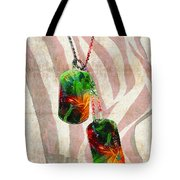 Military Art Dog Tags - Honor 2 - By Sharon Cummings Tote Bag