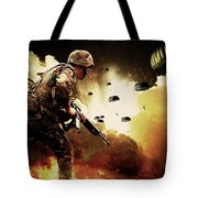 Military Our Heroes Tote Bag