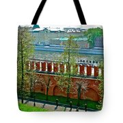 Military Parade Practice Inside Kremlin Walls In Moscow-russia Tote Bag