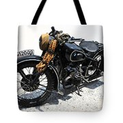 Military Style Bmw Motorcycle Tote Bag