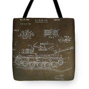 Military Tank Patent Tote Bag
