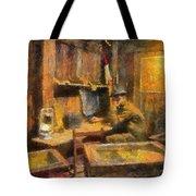 Military Ww I Command Post Photo Art 02 Tote Bag