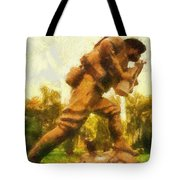 Military Ww I Doughboy 01 Photo Art Tote Bag
