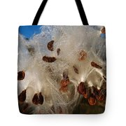 Milkweed Pod Bursting With Seeds And Dew Tote Bag