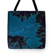 Milky Way Framed Trees Tote Bag