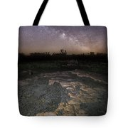 Milky Way On The Rock Tote Bag