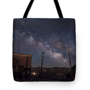 Milky Way Over Bodie Hotels Tote Bag