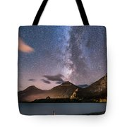 Milky Way Over Prince Of Wales Hotel Tote Bag
